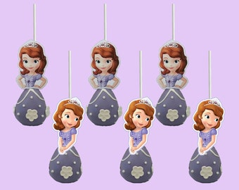Sofia the First Cake Pop Toppers, Cupcake Toppers, Cupcake Picks INSTANT DOWNLOAD