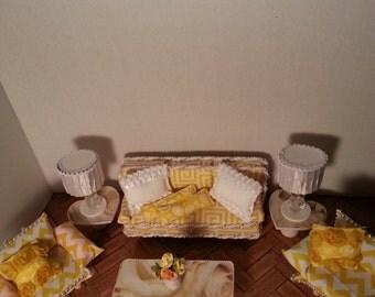 Yellow Miniature Livingroom Set