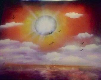 Serene shore painting
