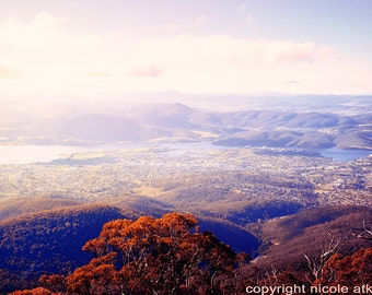 Australian Landscape Home Decor Wall Print Stunning View Tasmania Mount Wellington Wanderlust Travel Fine Art Photography