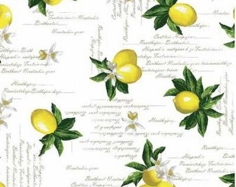 Oilcloth table cloth by the metre lemon C144041