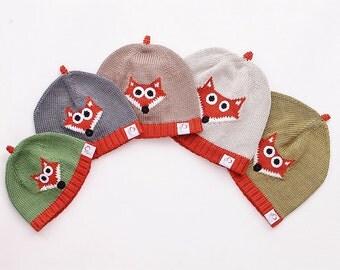 Fox hat, knit CAP, hat, Fox