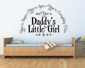 Wall Art Vinyl Decals Quote Kids Nursery Little Girl