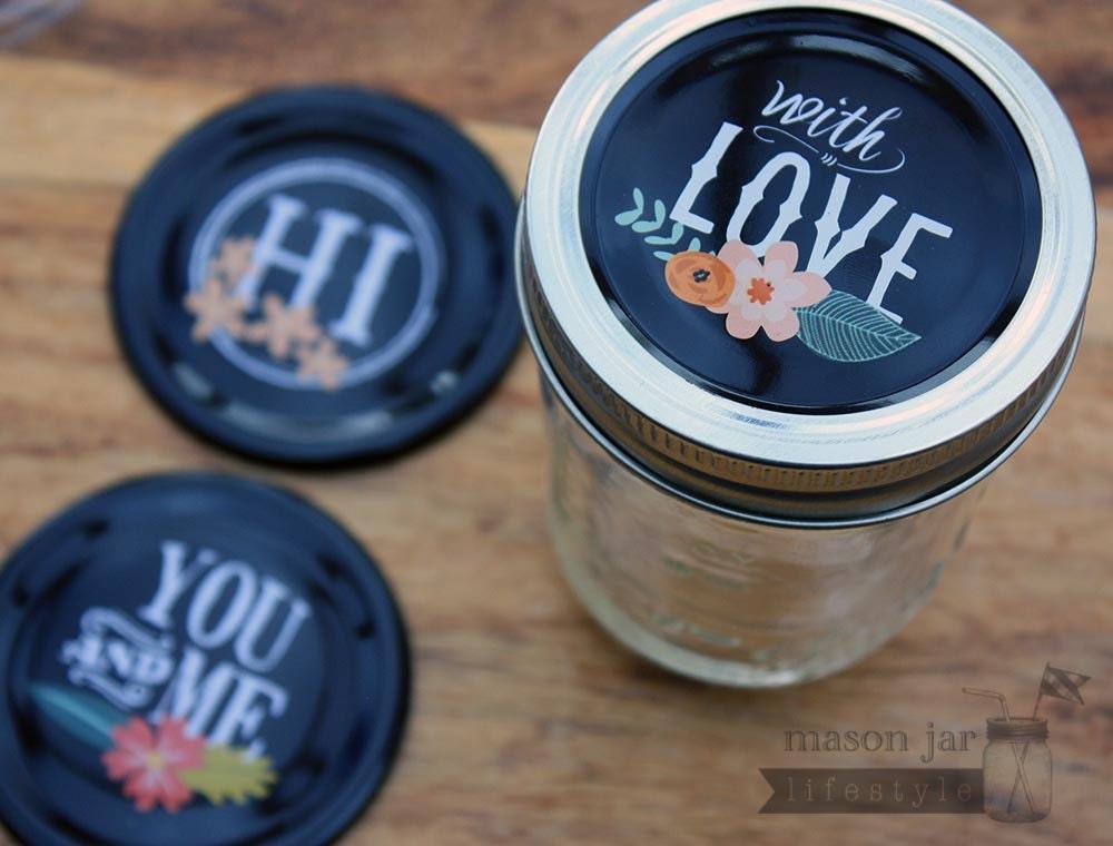 mason jar gift lid inserts for regular mouth mason jars 3 pack. Black Bedroom Furniture Sets. Home Design Ideas