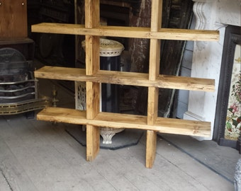 Oxo shelf unit from reclaimed timber