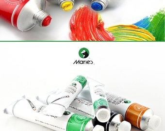 Marie's ® Oil Painting Pigment  One Brand New 50 ml Tube Color Yellow Blue Green Black