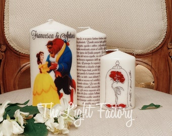 A set of candles for raccontarè your love story.