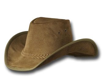 VE Adventures Suede Leather Cowboy Hat 3020HI - Hickory