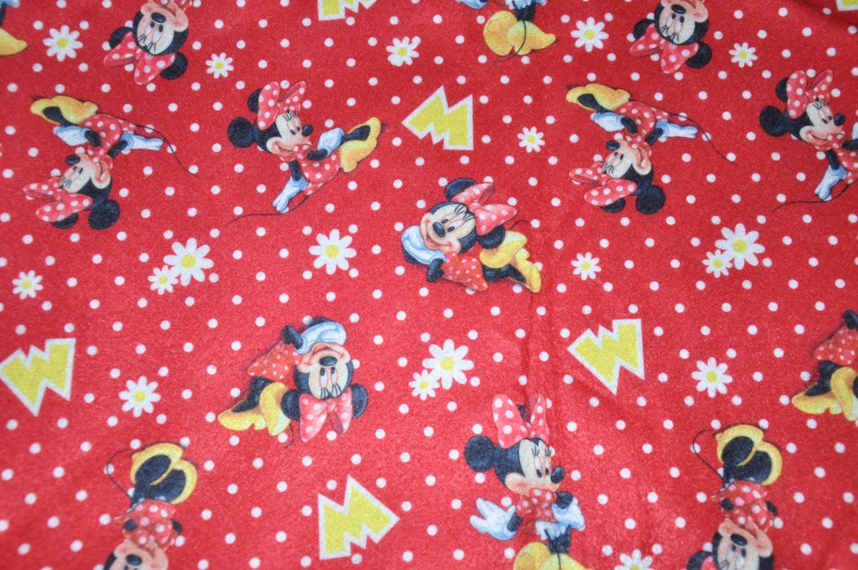 One yard disney minnie mouse polka dot daisy felt for Polka dot felt fabric
