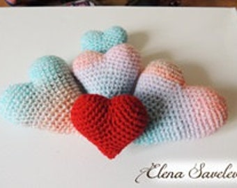 Knitted hearts (small)