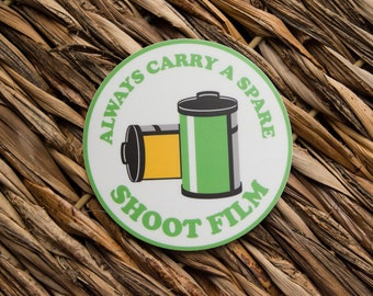 Always Carry a Spare Film Photography Sticker