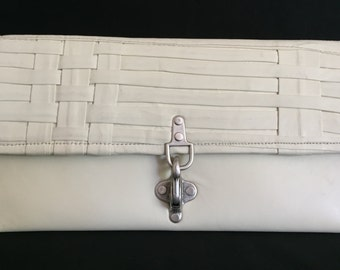 9.000 HUF Ivory leather clutch