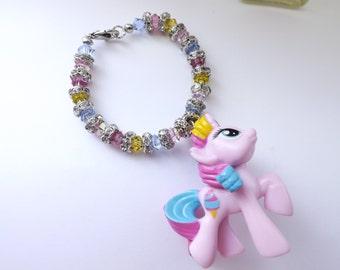 My Little Pony Sweetie Swirl Themed Swarovski Bracelet