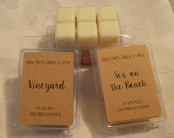 Soy wax melts, Set of 4-Choose your 4 favorite scents, Handmade Soy wax tarts in clamshell - Great for warmers
