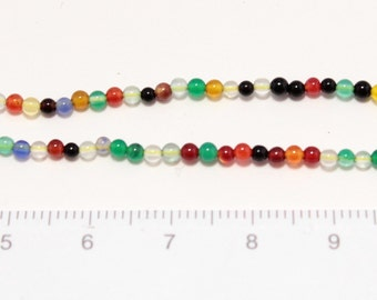 mix color agate beads 2mm 1string/G-0001