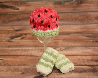 watermelon hat, baby watermelon, watermelon prop, newborn watermelon hat, photography prop