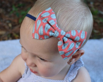 leaves bow headband