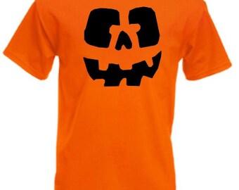 Pumpkin Head Orange Mens/Adults Novelty Tshirt - Funny/Joke/Gift/Fancy Dress/Party/Halloween