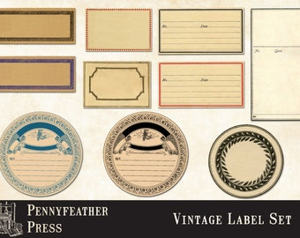 Printable Apothecary Labels Blank Vintage Labels Antique Labels Clip Art Graphics Digital Download