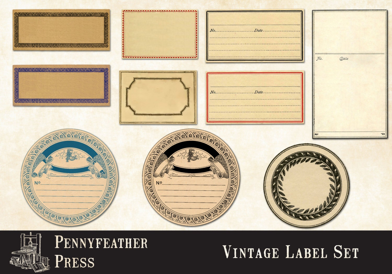 Blank Printable Tags: Printable Apothecary Labels Blank Vintage Labels Antique