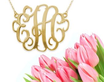 Grande Monogram Necklace (gold) XL extra large