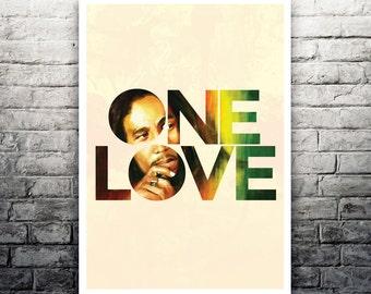 One Love Bob Marley poster print