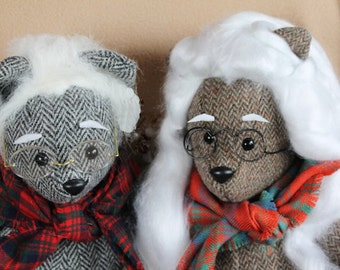 Handmade TweedyBear from Harris Tweed Jacket