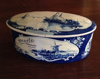 Vintage Droste Dutch Chocolate Candy Tin Holland