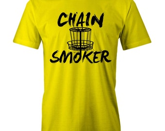 Chain Smoker T-shirt Disc Golf Golfer Frisby