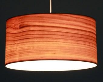 Lampshade D.50 cm, cherry-wood veneer