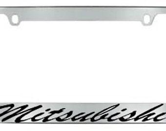 Mitsubishi Script License Plate Frame