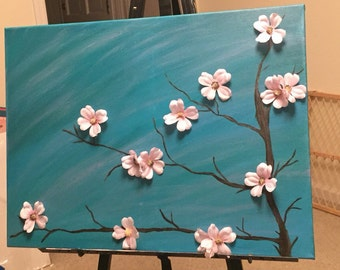 Tree and Flowers Painting