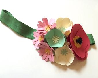 Handmade Paper Flower Headband
