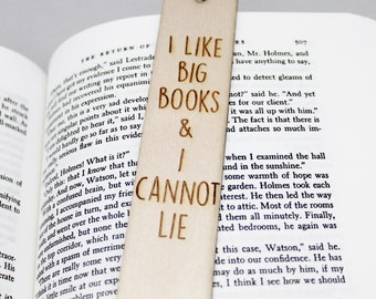 I Like Big Books and I Cannot Lie Funny Bokmark Book Lover Gift Personalised Personalized Custom