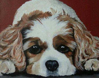 Custom Acrylic Pet Portrait 12x12 Canvas Pirtion of Sale Donated to Animal Rescue of Your Choice