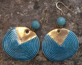 ceramic and earrings Amazonite