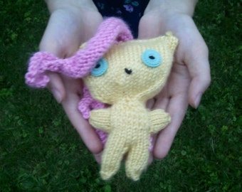 Fluttershy Doll: Handknit My Little Pony Doll Brony Pegasister Gift Fluttershy Amigurami MLP Fandoms MLP Doll