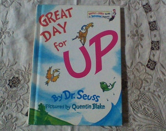 Vintage Dr. Seuss Book Great Day For Up 1974 - Bright and Early Books for Beginning Beginners