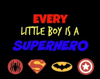 Superhero Print