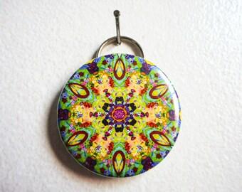 Bottle Opener Kaleidoscope, Key Chain Bottle Opener, Gustav Klimt, Mandala Keychain
