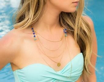 Hamsa Triple Layer Necklace
