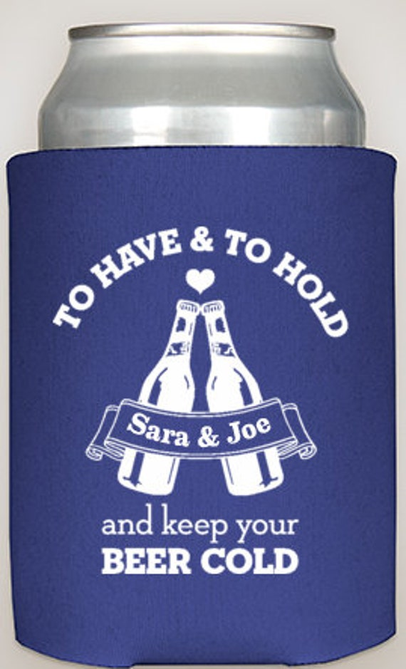 Keep Your Beer Cold Coozies Funny Wedding Favors By