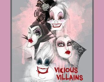Disney Villians Fabric Collection