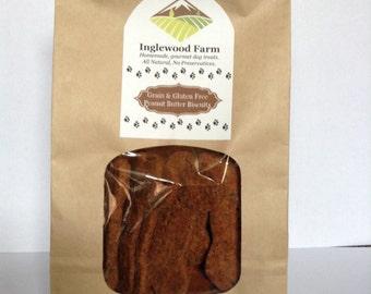 Dog Treat Peanut Butter, Grain & Gluten Free Treat, Peanut Butter Biscuits