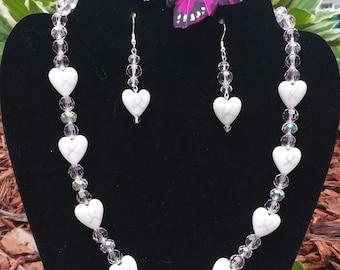 Breast Cancer Awaren Necklace Set