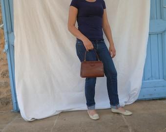 Brown Leather Handbag (Brand: Saillard Paris)