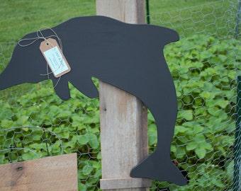 Handmade Chalkboard Dolphin