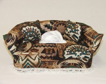Southwest Baskets fabric tissue box cover.