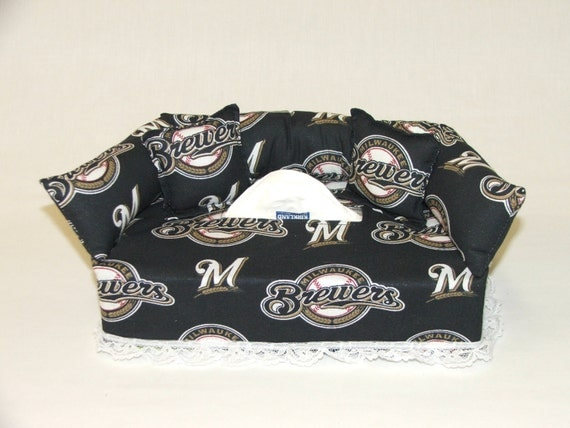 Milwaukee Brewers Bedroom In A Box Major League Baseball: Milwaukee Brewers MLB Licensed Fabric Tissue Box Cover