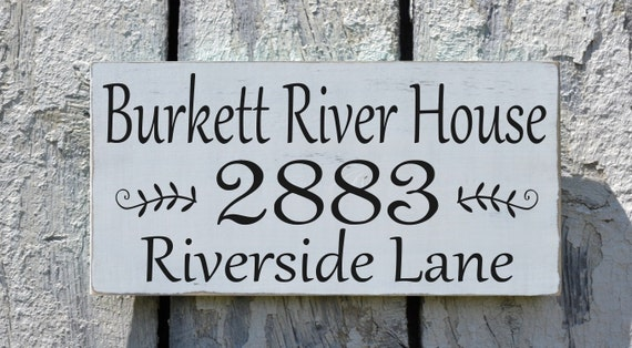 River House Decor Personalized River Sign Custom by